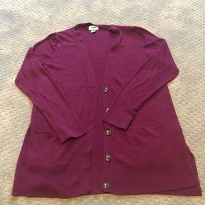 Maroon ButtonUp Cardigan